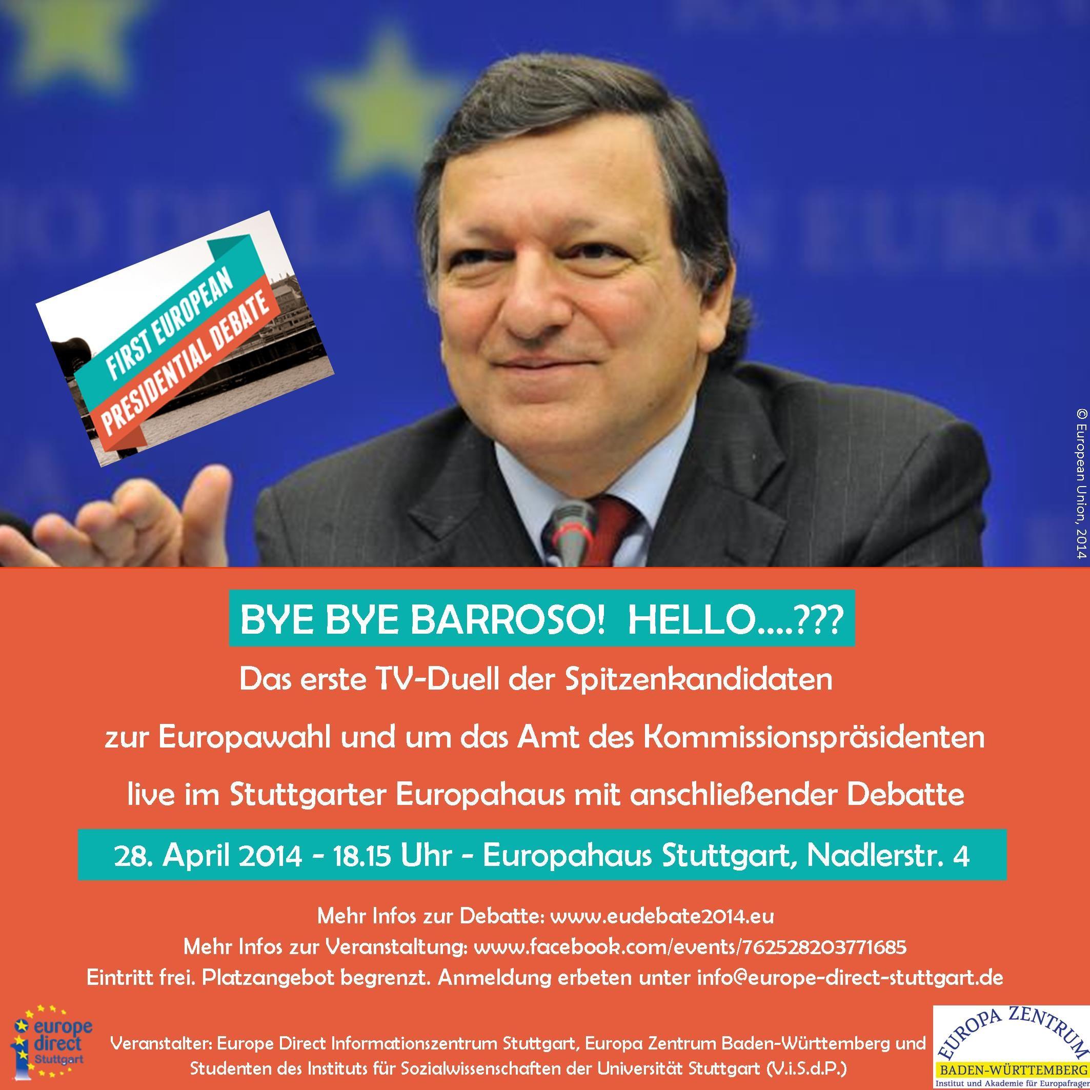 Das erste TV-Duell der Spitzenkandidaten zur Europawahl 28-04-14