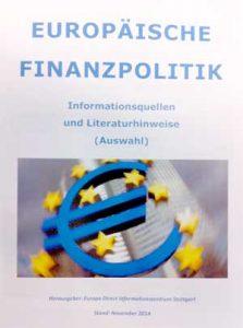 Broschüre Europäische Finanzpolitik